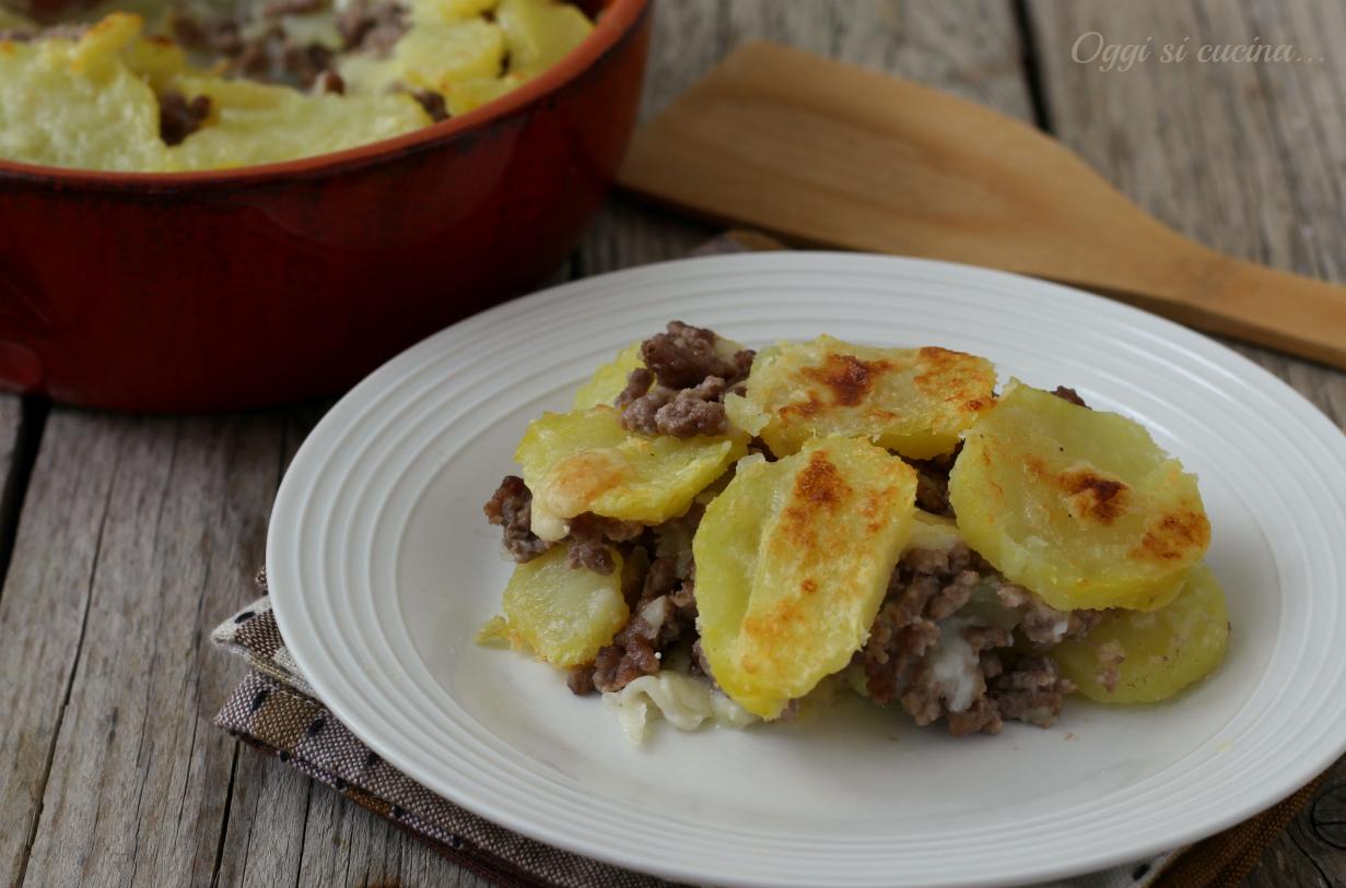 Tortino di carne macinata e patate