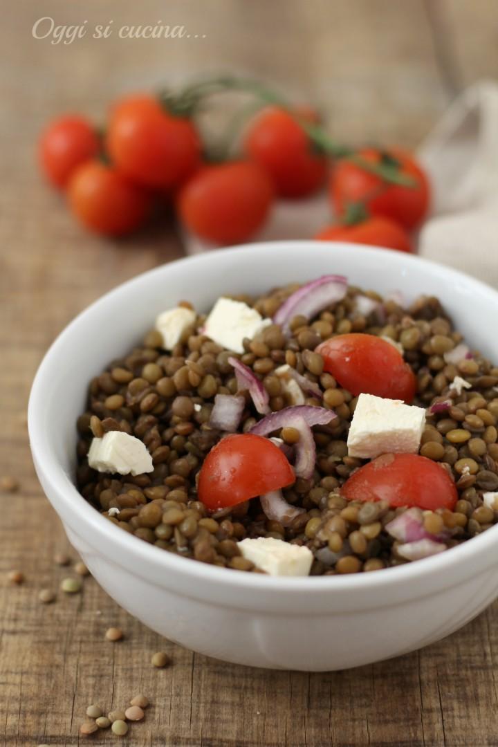 insalata di lenticchie e feta