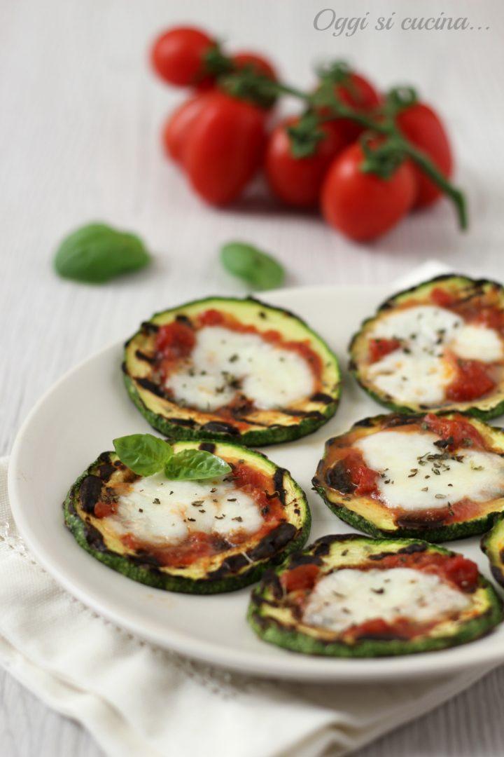 pizzette di zucchine grigliate