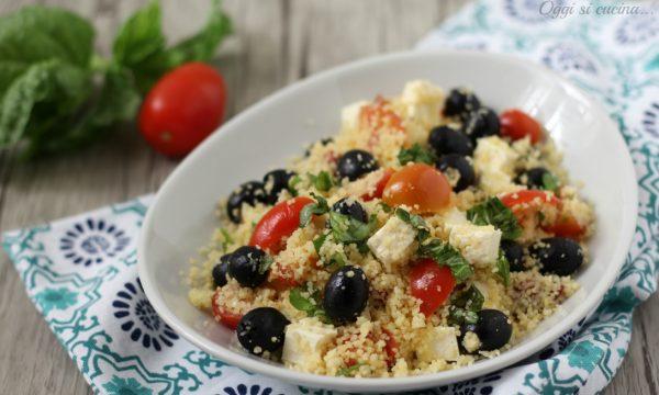 Cous cous con feta e olive
