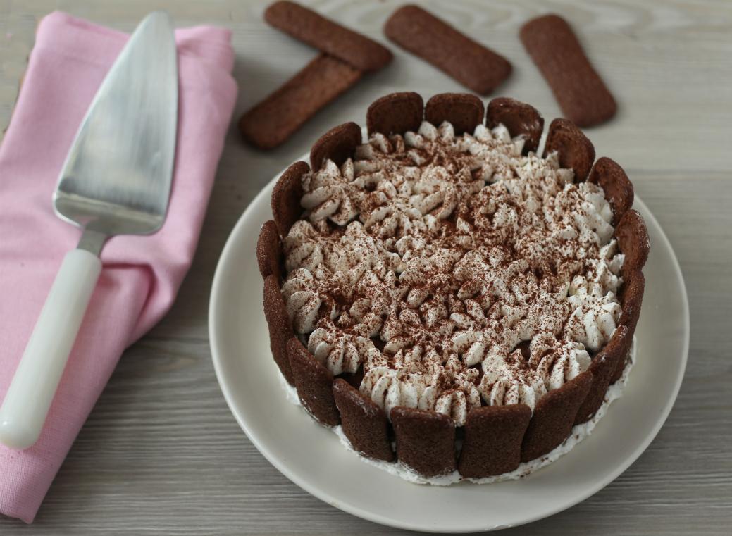 Torta di pavesini al cacao