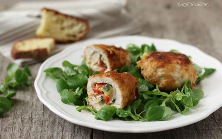 Involtini di pollo verdure e stracchino