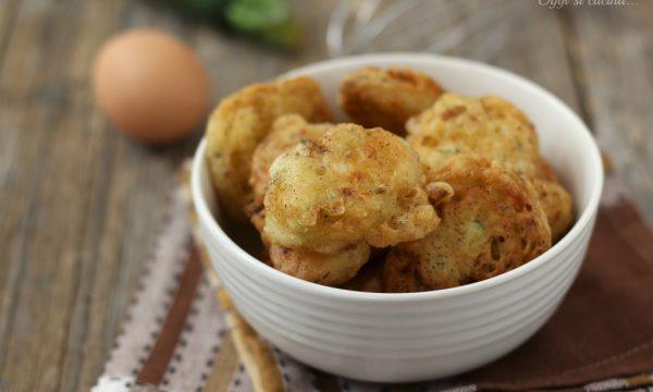 Frittelle di zucchine e pancetta
