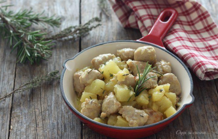 Bocconcini di salsiccia e patate al rosmarino