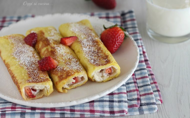 French toast roll up