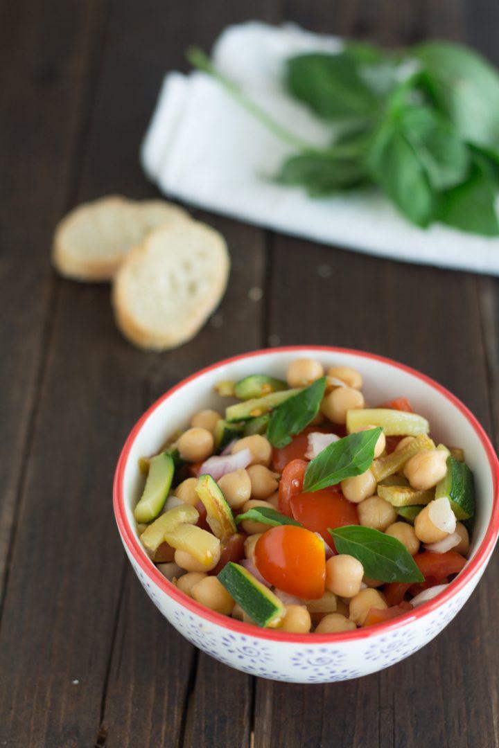 insalata di ceci e zucchine