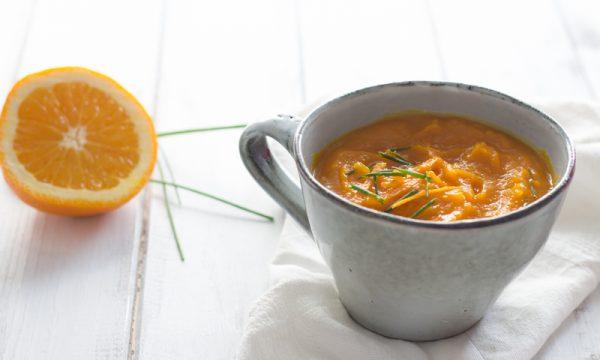 Vellutata di zucca arancia e zenzero