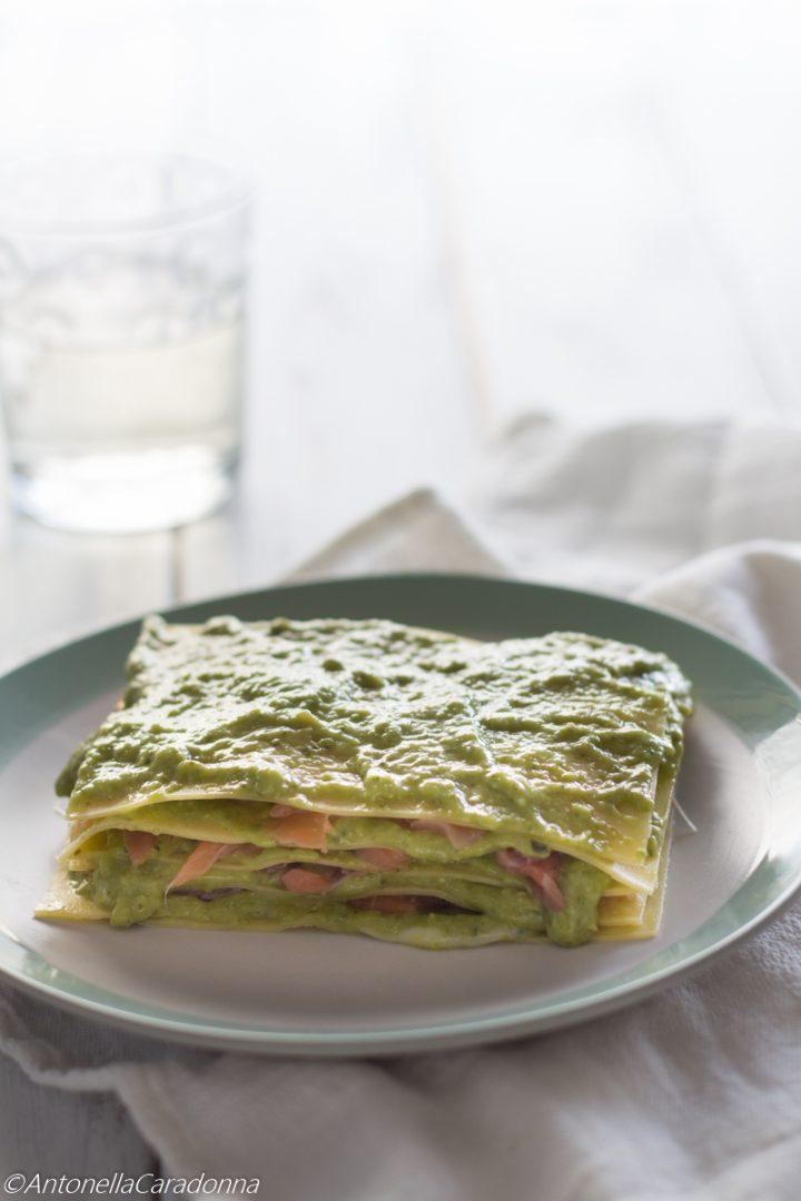 Lasagne Pesto e Salmone