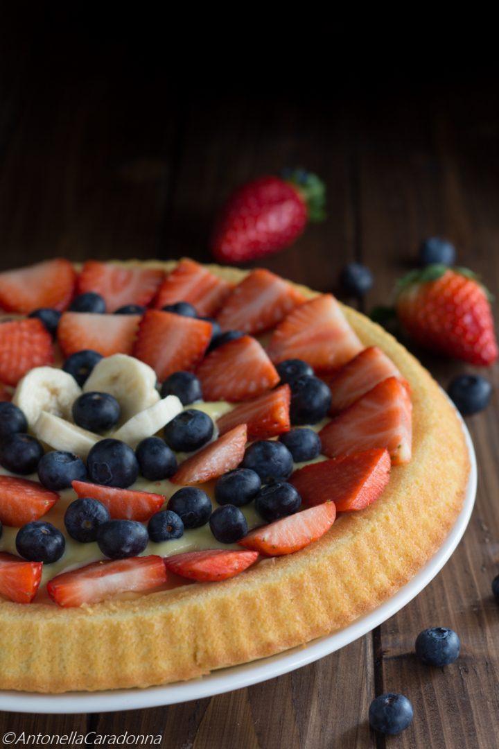crostata morbida alla frutta fresca