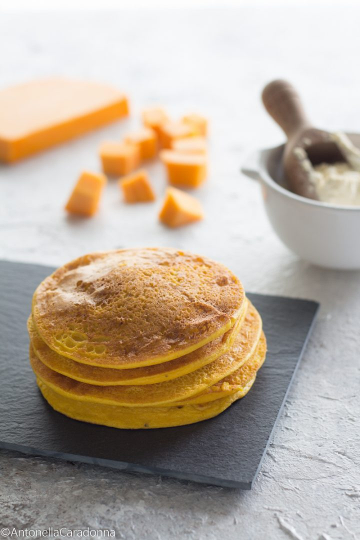 pancakes farina di ceci e zucca