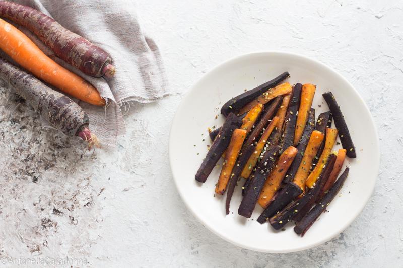 carote speziate al forno
