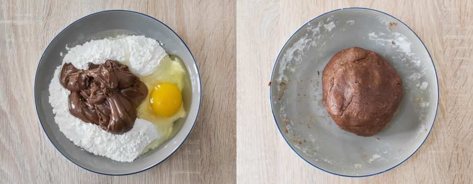 farina uovo nutella e panetto pronto