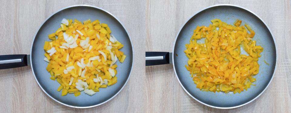 peperoni e cipolla da cuocere e cotti
