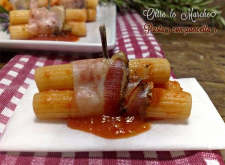 Pasta con pancetta, finger food
