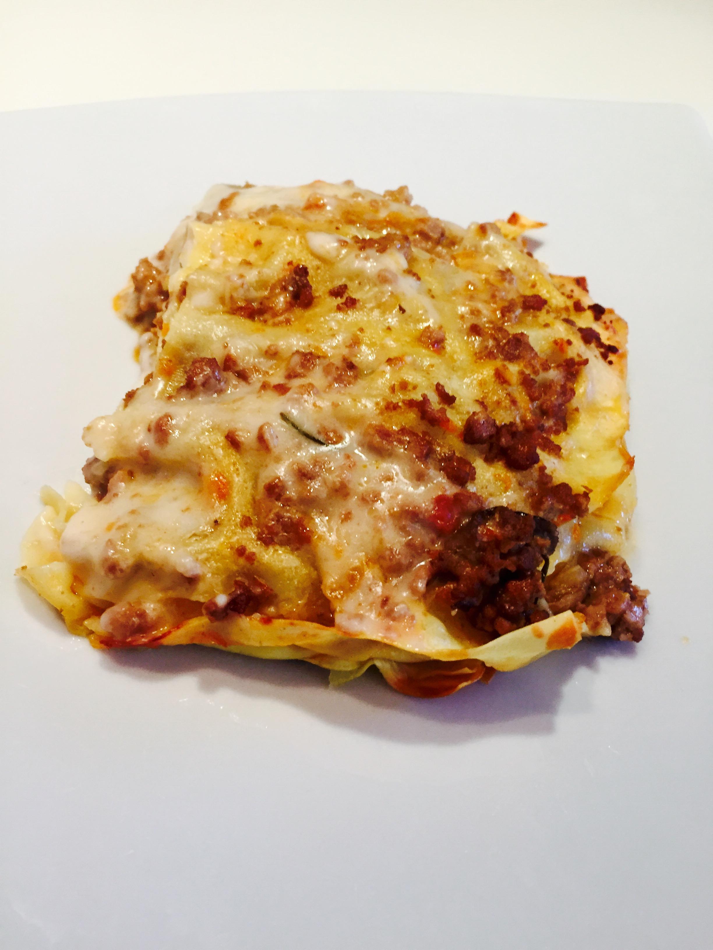 Lasagne al ragù di carne e funghi porcini