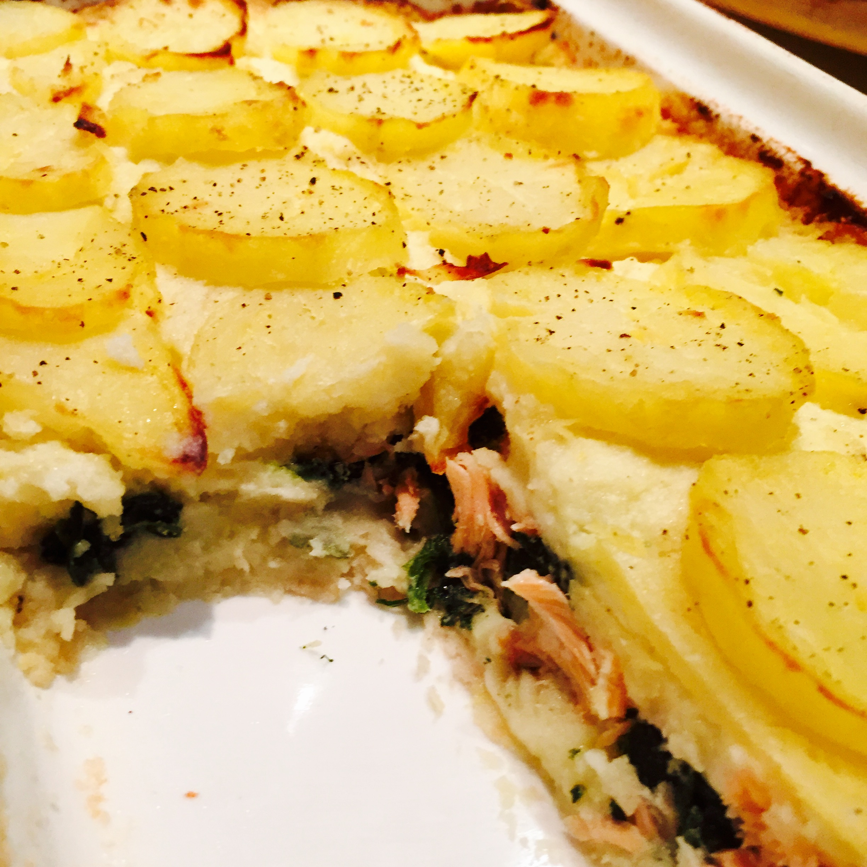 Tortino di patate con salmone e spinaci ricette veloci for Ricette con patate