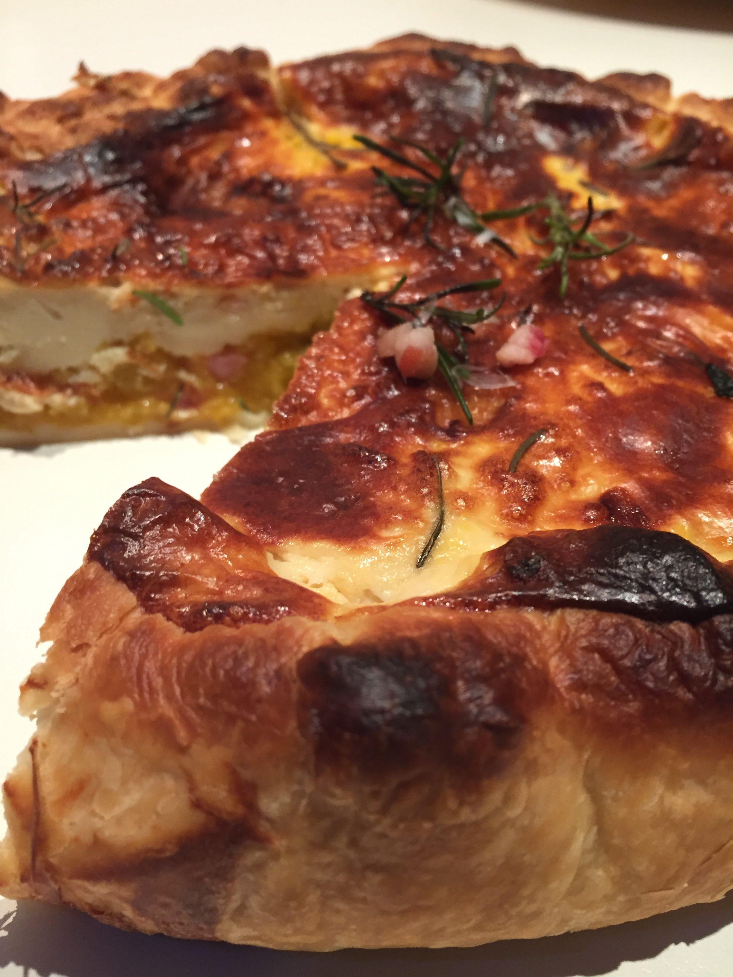 Torta salata zucca pancetta e rosmarino