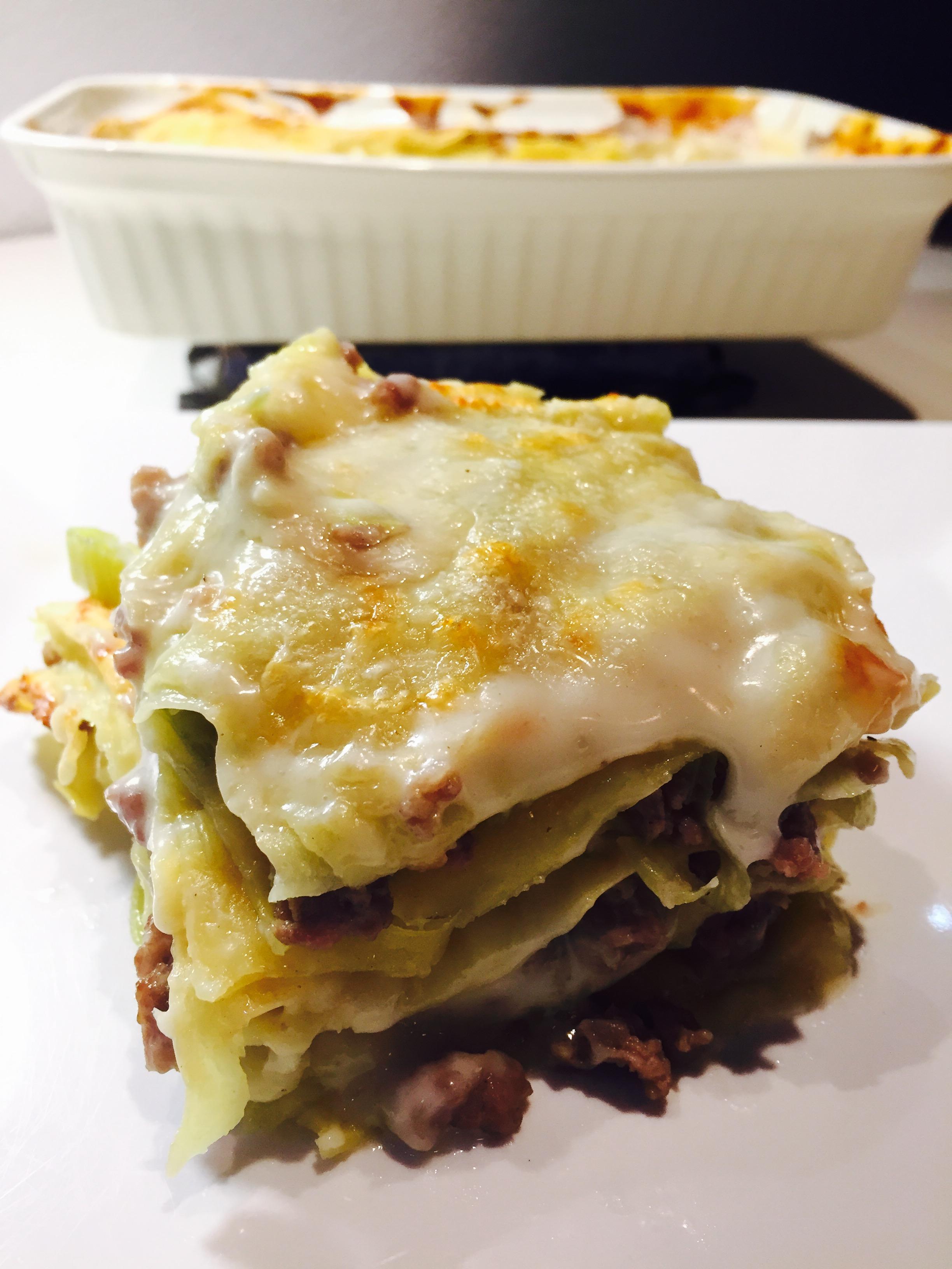 Lasagne salsiccia e porri