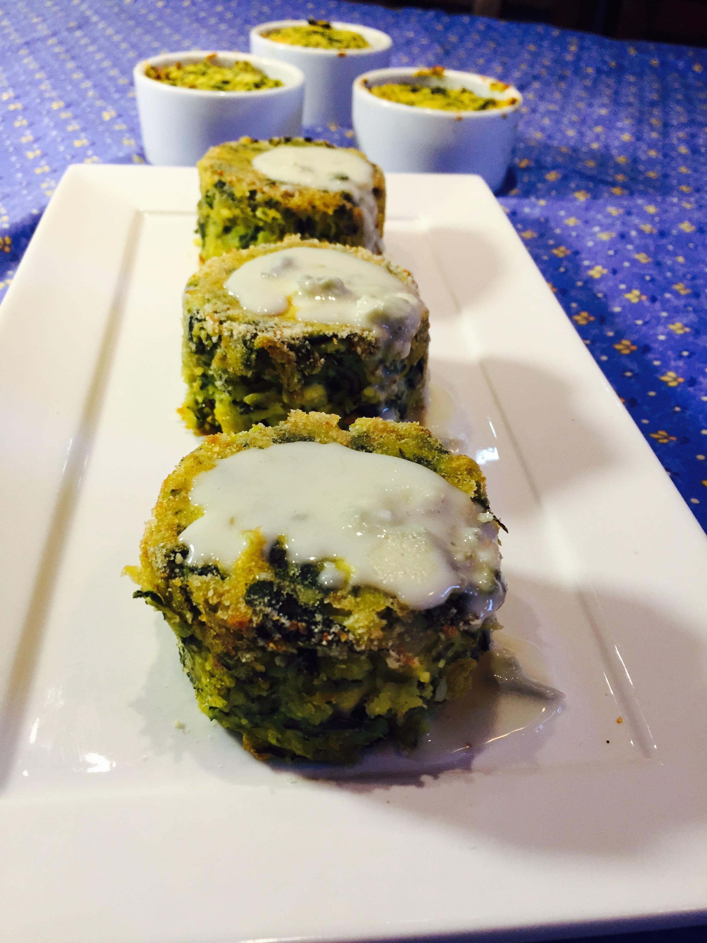 Tortino di bietole e patate con salsa al gorgonzola