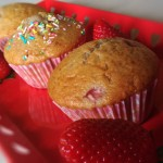Muffin con yogurt e fragole
