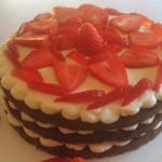 Naked cake cioccolato e ricotta