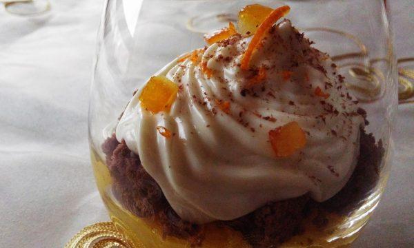 Verrine cioccolato arancia e fave di Tonka