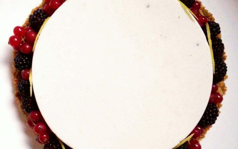 Cheesecake yogurt greco e ricotta senza cottura