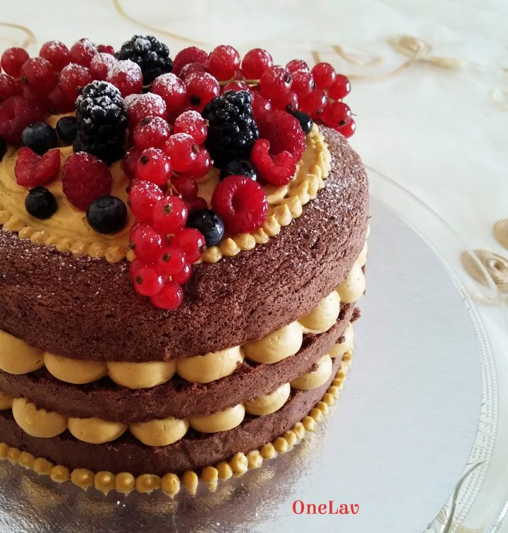 naked cake cioccolato e mango Knam Montersino