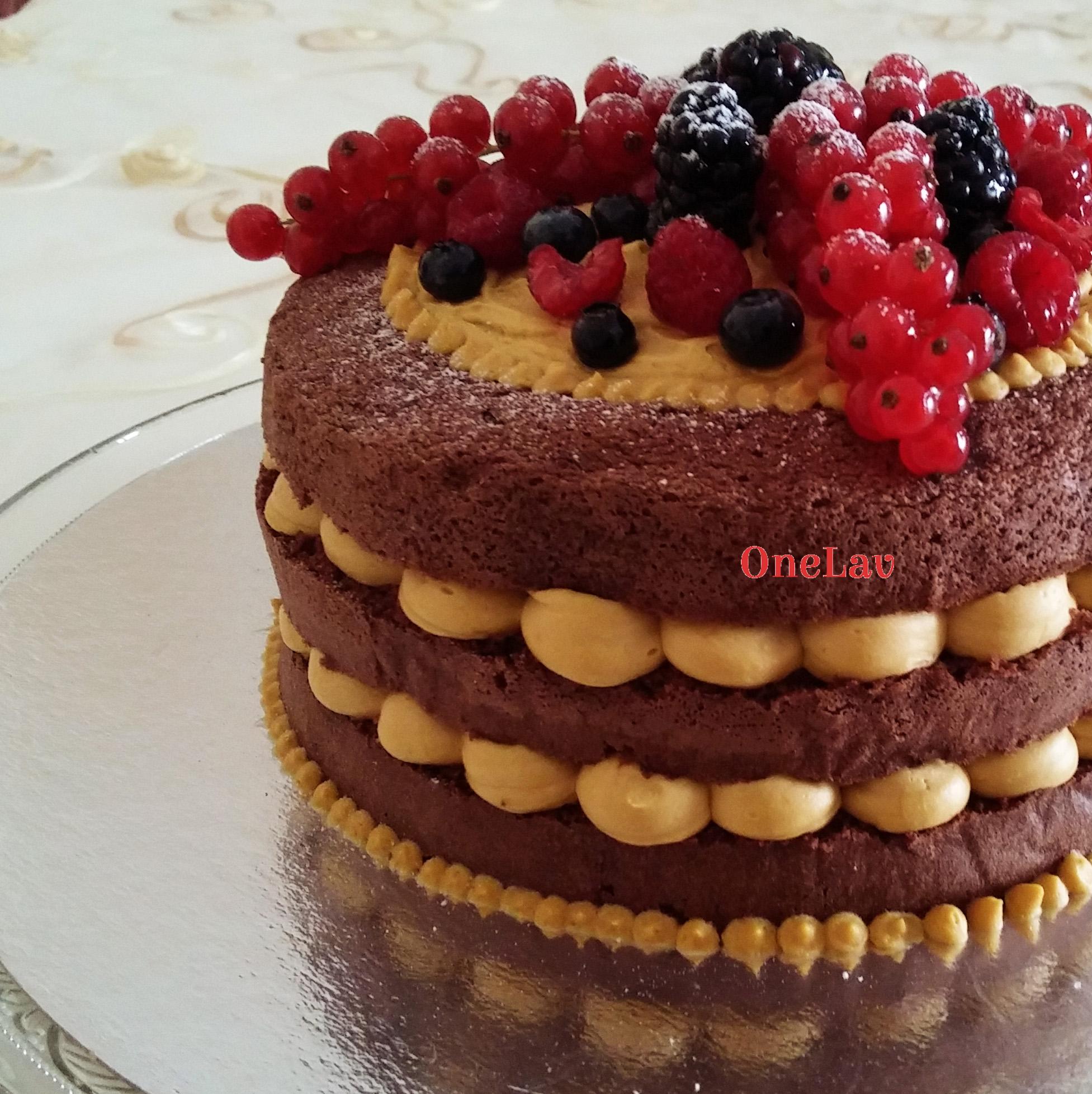 Naked cake cioccolato e mango