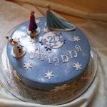 torta moderna nocciole e lamponi onelav