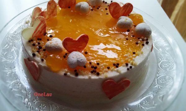 Torta cremosa ricotta arancia e cioccolato