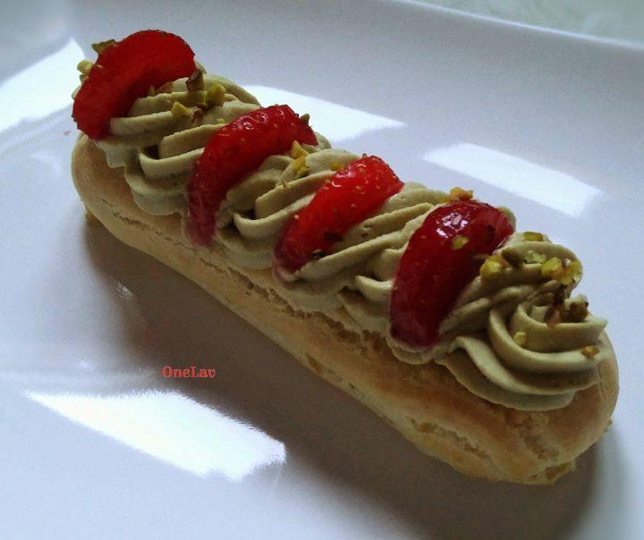 éclair namelaka al pistacchio