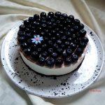 torta cremosa yogurt e mirtilli