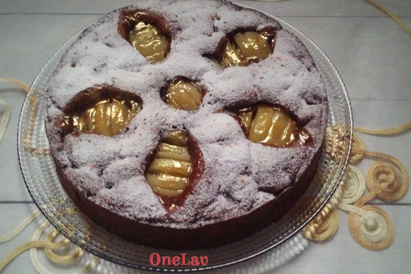 Torta pere e cioccolato all'oliodi Montersino senza glutine