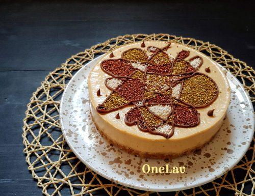 Cheesecake con mousse alle albicocche senza cottura