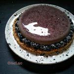torta cremosa con mousse ai mirtilli