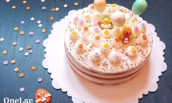 Naked cake con crema di ricotta per Pasqua