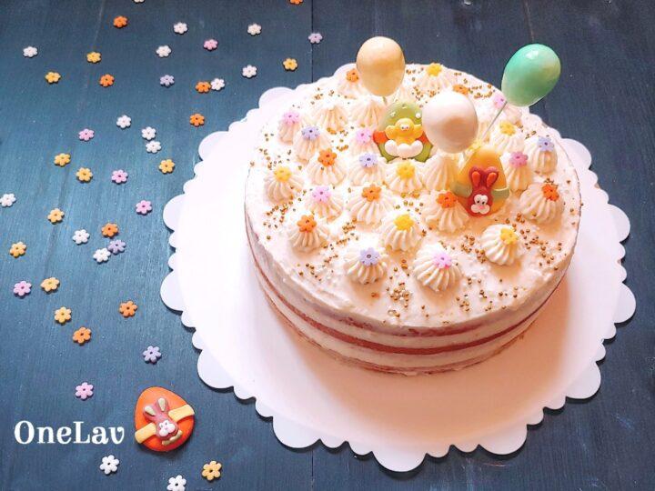 naked cake con crema di ricotta