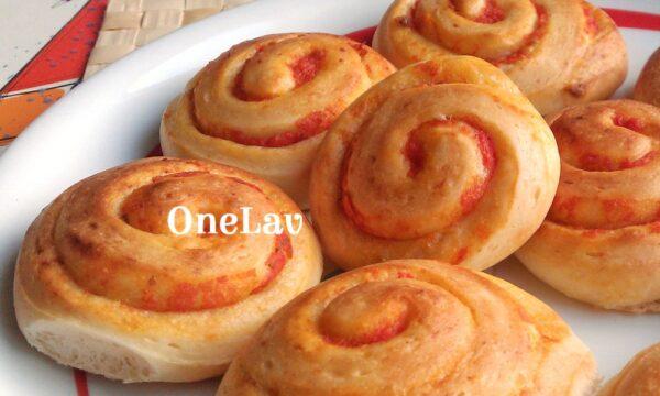 Girelle di mozzarella al pomodoro di Luca Montersino