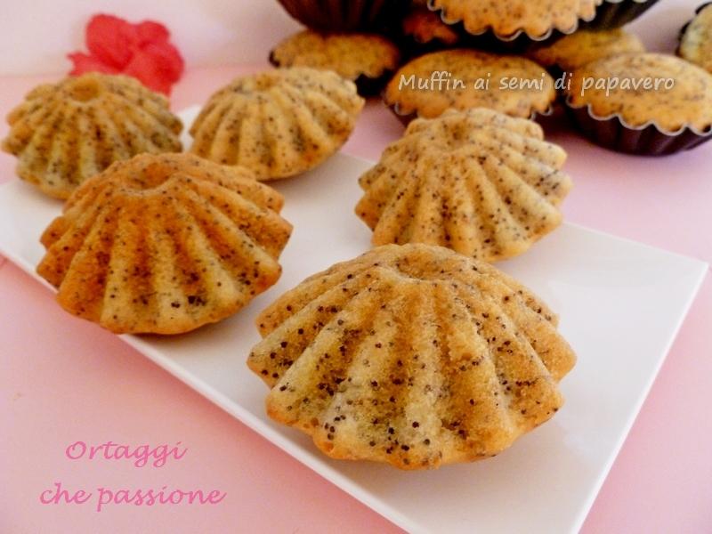 Muffin ai semi di papavero Ortaggi che passione by Sara