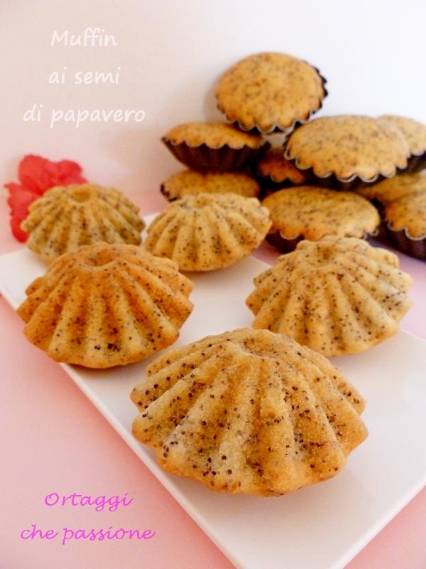 Muffin muffins con semi di papavero Ortaggi che passione by Sara
