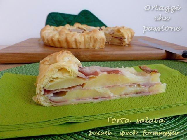 Torta salata di patate speck formaggio, Ortaggi che passione
