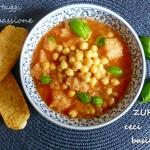 Zuppa ceci pane e basilico, velocissima