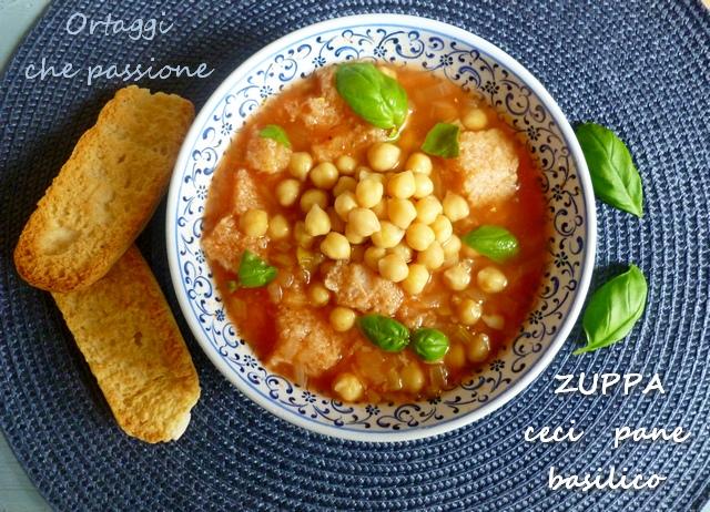 Zuppa ceci pane e basilico Ortaggi che passione by Sara