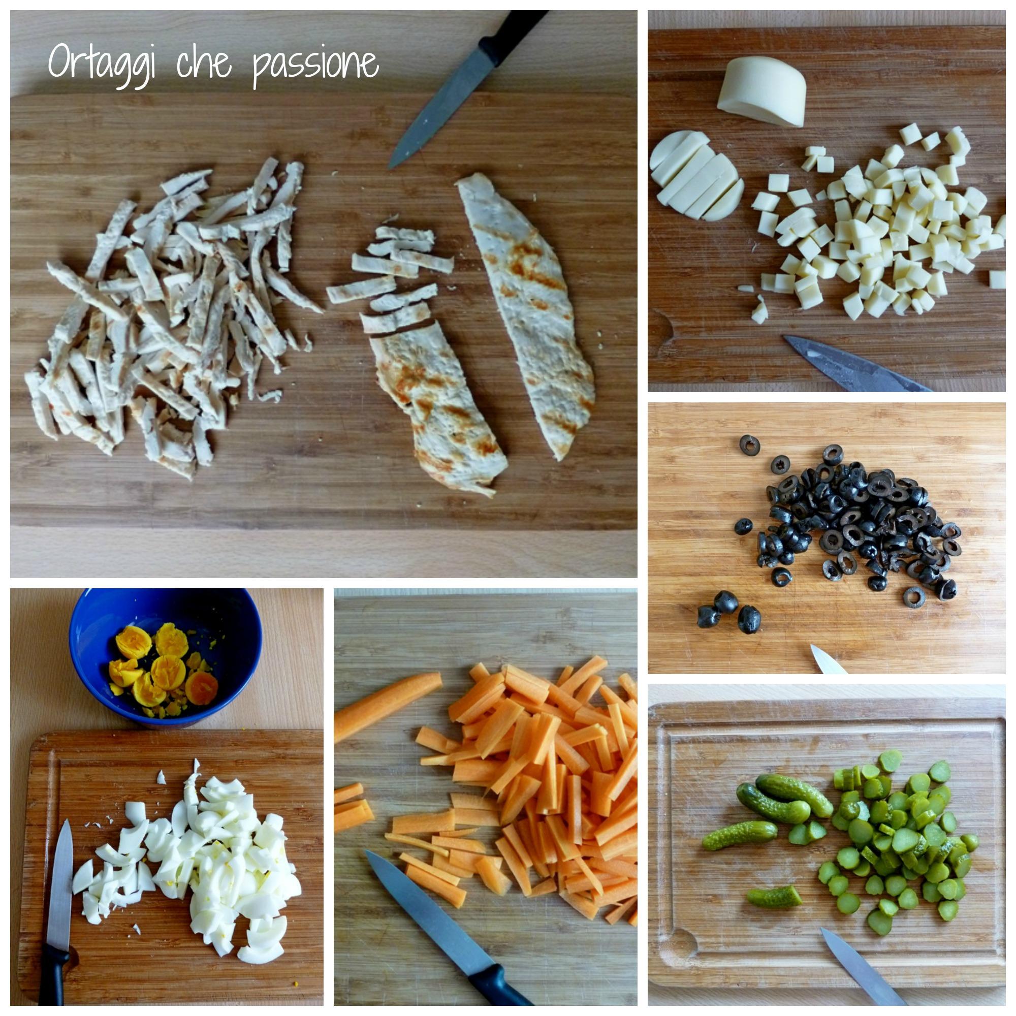 Insalata di pollo e carote Collage Ortaggi che passione by Sara