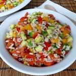 Ricetta insalata di riso Arlecchino