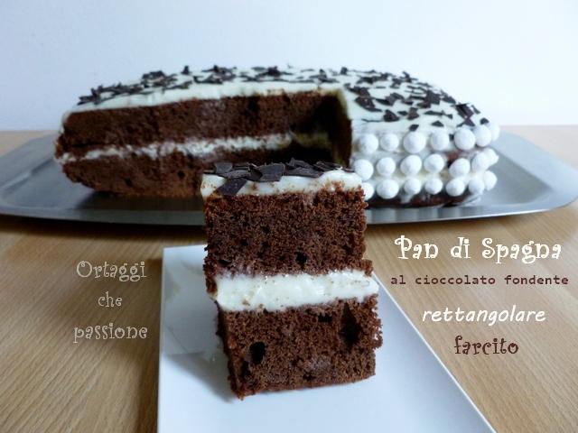 Pan di spagna al cioccolato rettangolare, Ortaggi che passione by Sara