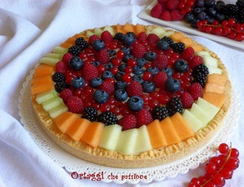 ricetta crostata di frutta, dolce con frutti di bosco