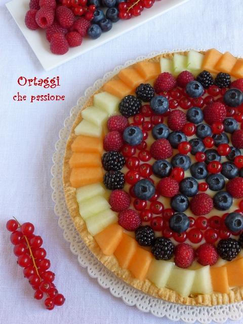 ricetta crostata di frutta con frutti di bosco - Ortaggi che passione by Sara