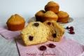 Muffin con mirtilli rossi essiccati